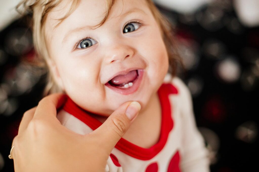 Apparition des dents de bébé